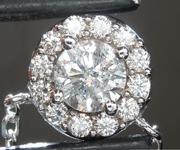 SOLD......Diamond Pendant: .55ct K I2 Round Brilliant Diamond Halo Pendant R6819