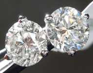 Colorless Diamond Earrings: 1.83ctw G-H SI2 Round Brilliant Diamond Stud Earrings R7554
