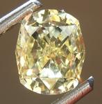 Loose Yellow Diamond: .78ct Fancy Yellow SI1 Cushion Modified Brilliant Diamond R7506