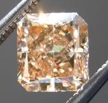 Loose Brown Diamond: 1.01ct Dark Orangy Brown SI1 Radiant Cut Diamond GIA R7065