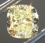 Loose Yellow Diamond: .70ct Fancy Yellow VS1 Cushion Cut Diamond GIA R6874