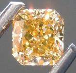 Loose Yellow Diamond: .38ct Fancy Deep Brown Yellow SI2 Radiant Cut Diamond GIA R7551