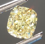 Loose Yellow Diamond: .59ct Fancy Yellow SI1 Cushion Cut Diamond GIA R6886