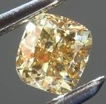 Loose Diamond: .50ct Fancy Deep Orange Brown VS1 Cushion Cut Diamond R7617