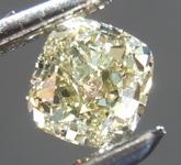 SOLD....Loose Yellow Diamond: .51ct Fancy Greenish Yellow VS1 Cushion Cut Diamond R7614