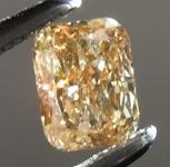 SOLD....Loose Brown Diamond: .32ct Fancy Brownish Yellow VS1 Cushion Cut Diamond R7410