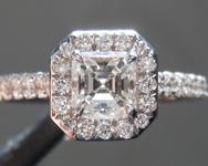 0.46ct G VS Asscher Cut Diamond Ring R7641