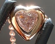 SOLD....Diamond Pendant: .18ct Light Pink I1 Heart Shape Diamond Necklace R7592