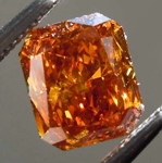 SOLD....Loose Orange Diamond: 1.03ct Fancy Deep Brownish Orange SI2 Radiant Cut Diamond GIA R7683