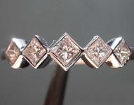 SOLD... 0.42ctw J VS1 Princess Diamond Band R7584