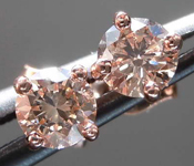 0.48ctw U-V (Brown) VS1 Round Brilliant Diamond Earrings R7590