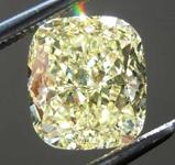 Loose Yellow Diamond: 2.02ct Fancy Intense Yellow VS2 Cushion Cut Diamond GIA R7692