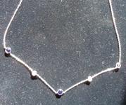 1.12cts Blue Round Brilliant Sapphire Necklace R7562
