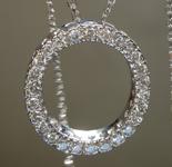 SOLD....Diamond Pendant: .52ctw H SI Round Brilliant Diamond Pendant R7478