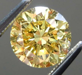 Loose Yellow Diamond: 1.32ct Fancy Vivid Yellow VS2 Round Brilliant Diamond GIA R7708
