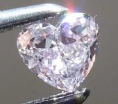 SOLD....Loose Purple Diamond: .21ct Fancy Pink-Purple I1 Heart Shape Diamond GIA R7672