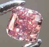 Loose Pink Diamond: .20ct Fancy Deep Pink I1 Cushion Cut Diamond GIA R7676