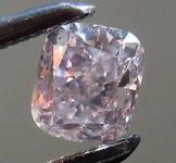 Loose Diamond: .39ct Fancy Brownish Purplish Pink SI2 Cushion Cut Diamond GIA R7677