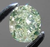 SOLD.........Loose Green Diamond: .42ct Fancy Green-Yellow I1 Cushion Cut Diamond GIA R7678