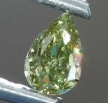 SOLD... Loose Green Diamond: .16ct Fancy Deep Greenish Yellow CHAMELEON SI2 Pear Shape Diamond GIA R7670