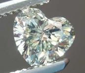 SOLD....Loose Diamond: .64ct Fancy Light Grayish Greenish Yellow VVS2 Heart Shape Diamond GIA R7698