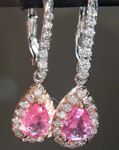SOLD...1.45cts Pink Pear Sapphire Earrings R7661