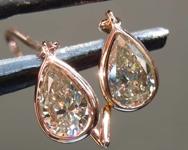 SOLD....93ctw Fancy Light Greenish Yellow VS Pear Shape Diamond Earrings R7710