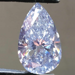 11.12ct Fancy Light Gray I2 Pear Diamond GIA R7754