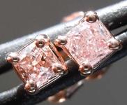SOLD......0.39ctw Fancy Light Pink Cushion Cut Diamond Earrings R7751
