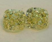 SOLD........1.01ctw Fancy Yellow VS Cushion Cut Diamond Earrings GIA R7778