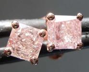 SOLD.....77ctw Fancy Light Pink I2 Radiant Cut Diamond Earrings R7733