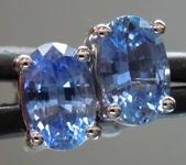 SOLD.....1.19ctw Blue Oval Sapphire Earrings R7765