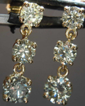 SOLD.......1.63ctw Fancy Grayish Greenish Yellow Round Brilliant Diamond Earrings R7777