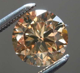 SOLD.......1.23ct Fancy Yellow-Brown VS2 Round Brilliant Diamond GIA R7809