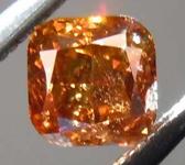 0.40ct Dark Orangy Brown SI2 Cushion Cut Diamond GIA R7803