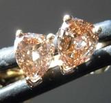 SOLD... .39ctw Fancy Brownish Yellow Pear Diamond Earrings R7416