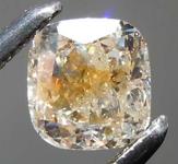 SOLD....0.56ct Brownish Orangy Yellow Tiger Cushion Diamond R7806