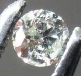 0.07ct Fancy Grayish Yellowish Green Chameleon I1 Round Diamond GIA R7794