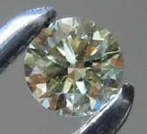 .08ct Fancy Grayish Yellowish Green Chameleon Round Diamond GIA R7796