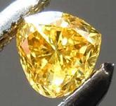 .12ct Fancy Vivid Orange Yellow VS Heart Shape Diamond GIA R7798