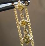 SOLD......41ctw Greenish Yellow SI1 Cushion Cut Diamond Pendant R7744