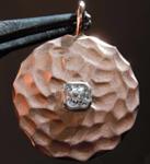 SOLD.....32ct E SI1 Cushion Cut Diamond Pendant R7560