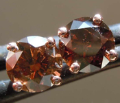SOLD.....91ctw Natural Brown SI Round Brilliant Diamond Earrings R7873
