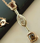 SOLD...79ctw Brown and Colorless Diamond Pendant R6937