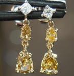 SOLD......79ctw Multi-Colored Diamond Earrings R7874