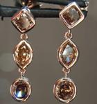 SOLD...1.98ctw Deep Brown Diamond Earrings R7881