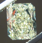 SOLD....1.55ct Light Yellow VS1 Radiant Cut Diamond R7893