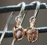 .43ctw Deep Orangy Brown SI1 Oval Diamond Earrings R7886