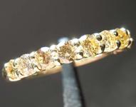 SOLD.....93ctw Orangy Yellow Round Brilliant Diamond Ring R7830