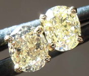 SOLD..........1.05ctw Natural Yellow Oval Diamond Earrings R7888